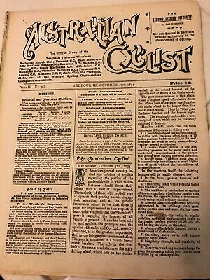 Old Magazine The Australian Cyclist September 13th 1894