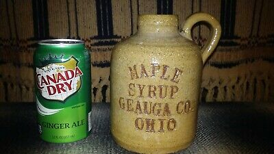 Maple syrup Geauga Co. Ohio pottery jug