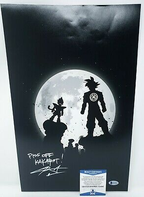 Chris Sabat signed 11x14 Poster Photo Dragon Ball Z Kai Super Vegeta Beckett