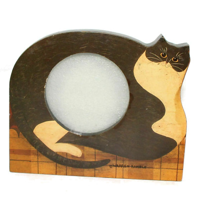 """Fat Cat"" Cat Picture Frame 4""X 5"" Photo Holder Warren Kimble"