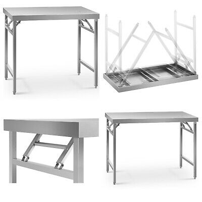 Stainless Steel Folding Work Table Portable Worktop Catering 200kg-230kg