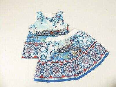 Patachou Girls Multicoloured Graphic Blouse & Skirt Outfit Age 5 Years BNWTS
