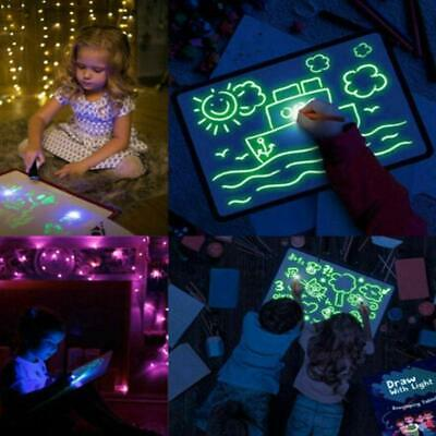 Light Up Drawing Fluorescent Magic Writing Board Kit Kid Fun and Developing Toy