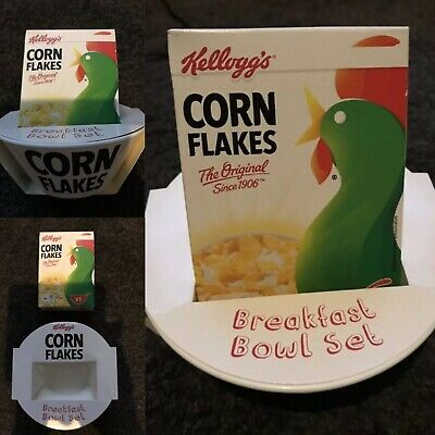 Kellogg/'s Corn Flakes Cereal Bowl Pair x2 Brand New