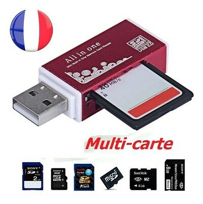 Lecteur Reader Adaptateur Usb Multi Carte  Memoire Sd/Sdhc/Mmc/Tflash/Micro Sd/M