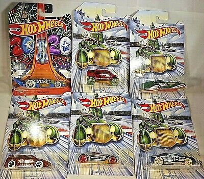 2019 Hot Wheels Walmart Excl HOLIDAY HOT RODS Complete Set of 6 See Description
