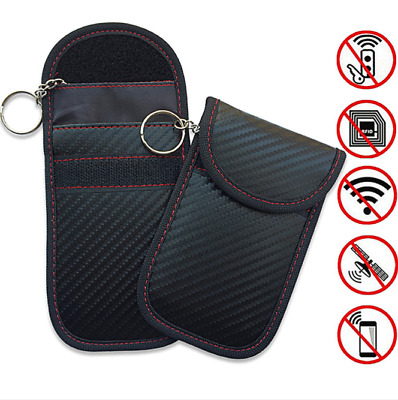 1pc Anti-theft Car Key Fob RFID Signal Blocker Signal Blocking Pouch Bag