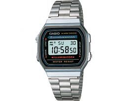 Casio A168W-1 Wrist Watch for Men - Silver