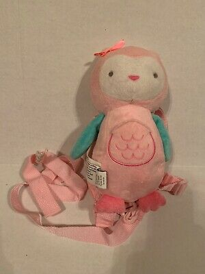 Carter's Child Of Mine Pink Owl Plush Safety Harness Leash EUC