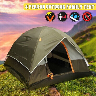 Family Outdoor Camping Hiking Tent 3-4 Person Instant Double Layer Waterproof US