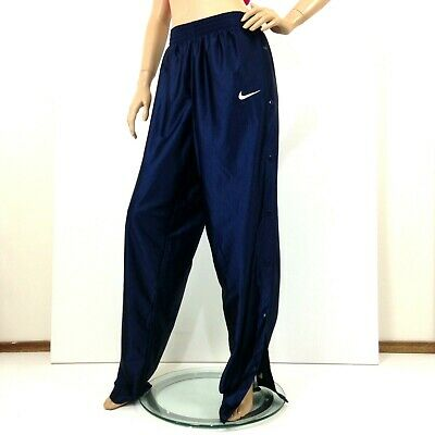 Vintage 90s  unisex Nike side snap buttons sweat pants midnight blue sz XL