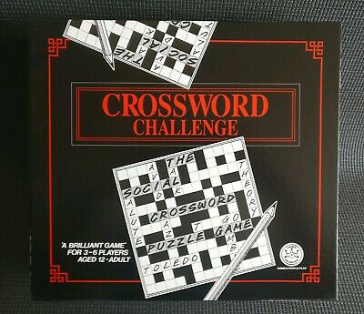 CROSSWORD CHALLENGE Fun Family Dinner Party Board Game - Complete & Unused