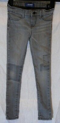 Boys Old Navy Light Grey Denim Adjustable Waist Super Skinny Jeans Age 6 Years