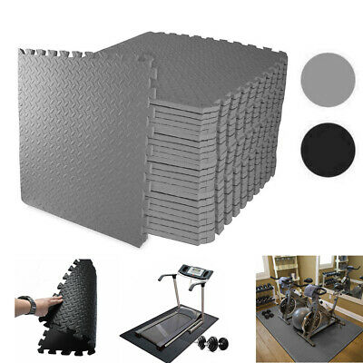 Gym Flooring Mats Interlocking Puzzle Exercise Mat Protective EVA Foam Tiles MD