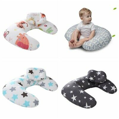 Home Cotton Newborn Baby Infant Pillow Positioner Prevent Flat Head Anti Roll UK