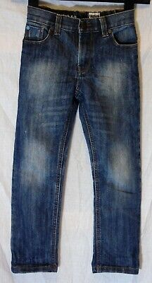 Boys Next Blue Whiskered Denim Waist Classic Straight Leg Jeans Age 6 Years