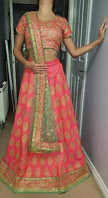Trendy Party Mint & Pink Lehenga WORN ONCE, Size 6