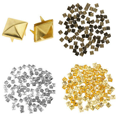 100pcs Colorful Personality Pyramid Rivet Studs for Clothing Bag Shoes Caps