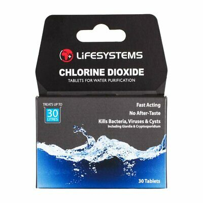 Lifesystems Chlorine Dioxide Water Purification Tablets (Pack of 30 Tablets)