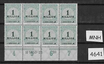#4641   MNH Stamp block / 1923 Issue Inflation era Germany / 1,000,000 Marks
