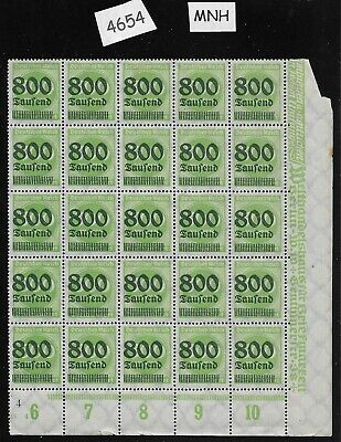 #4654   MNH Stamp block - sheet / 1923 Issue Inflation era Germany / Overprint