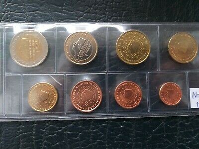Netherlands Euro Uncirculated 8 Coin Set Mixed Dates 1999-2002