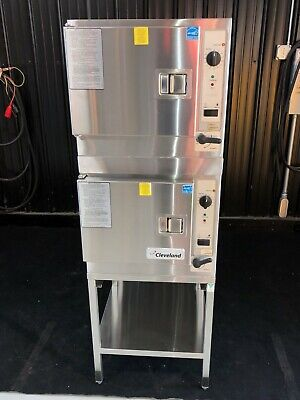 Cleveland Electric Double Steamer Cooking Steam Oven 22Cet3.1 3 Pan