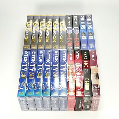 20 x Blank VHS Tapes of 4 Hours E-240 Video Cassette PAL TDK - New & Sealed (2)