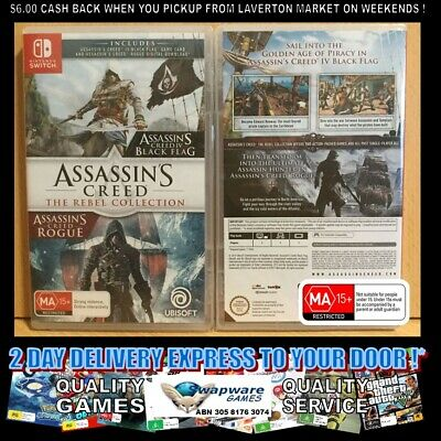 Assassin's Creed The Rebel Collection 2 Games Nintendo Switch AUS SEALED EXPRESS
