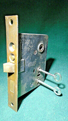 "Circa 1930 Chicago #1470 Entry Mortise Lock: Double Key 6 7/8"" Face - (13833)"