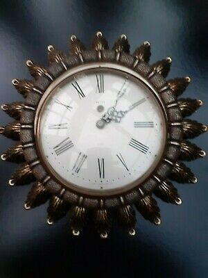 Vintage  Smiths  8 Day   'Sunburst'  Wall Clock