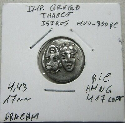 (31) Thrace - Istros 400-350 BC, Silver Drachm
