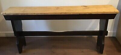 Late 1800's, Antique, 140cm (4ft 6in), Pine, Window Seat / Bench