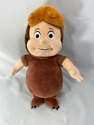"""Official Disney Store Peter Pan Lost Boys CUBBY Brown Bear 13"""" Stuffed Plush"""
