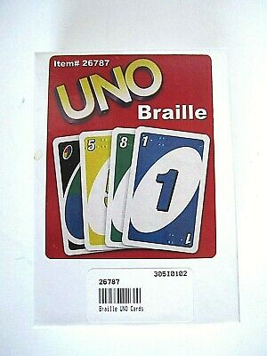 Uno Card Game -- Braille Edition
