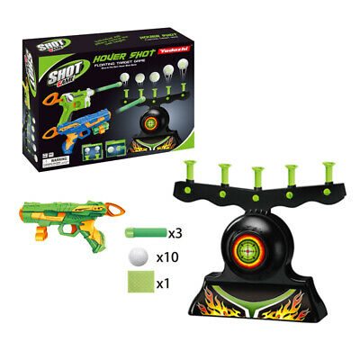Hover Shot Floating Target Gun Aim Game Air Shot Blaster Shooting Balls Toy Gift