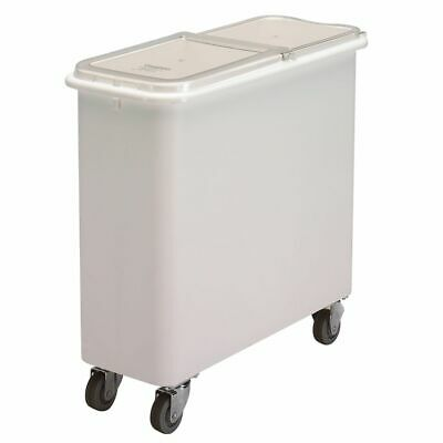 Cambro IBSF27148 White Flat Top 27 Gal Ingredient Bin with Clear Lid