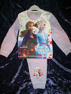Disney Official Frozen 2 Girls Pyjamas Anna & Elsa Pjs