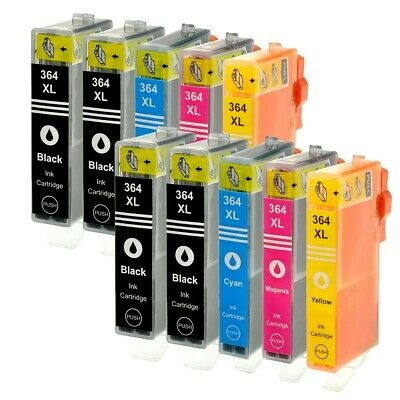 10 pcs cartridges HP 364XL for HP Photosmart 5520 5524 6510 6520 7510 XL (Chip)