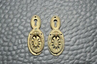 Antique Victorian Brass Key Hole Covers Lot of 2 Keyhole Covers