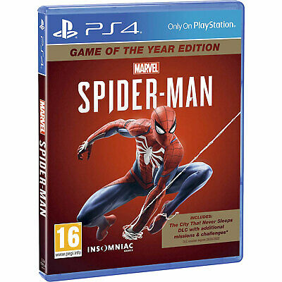Marvel SpiderMan Game of the Year PS4 GOTY New and Sealed Spider-man