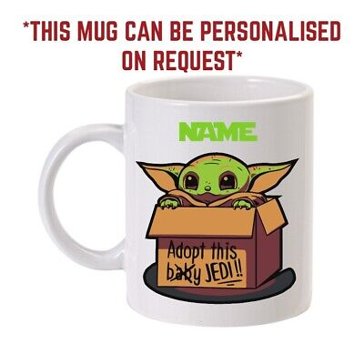 Baby Yoda Star Wars novelty make me a brew Personalised Coffee Cup Mug
