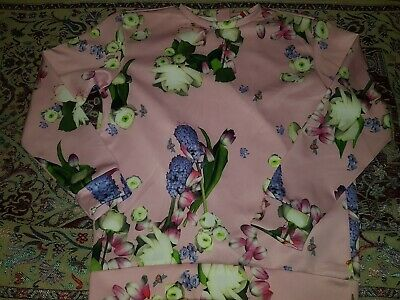 Ted Baker Girls Floral Frill Rose Pink JUMPER SWEATER TOP Age 11-12 Years NEW