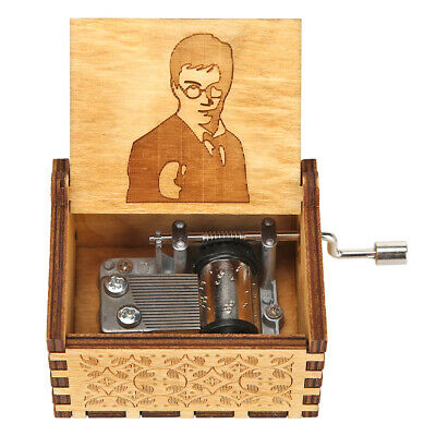 Retro Vintage Music Box Wood Hand Cranked Music Box Home Crafts Ornaments Decor