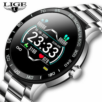 Waterproof Men Smart Watch Heart Rate Blood Pressure Monitoring for iOS Android
