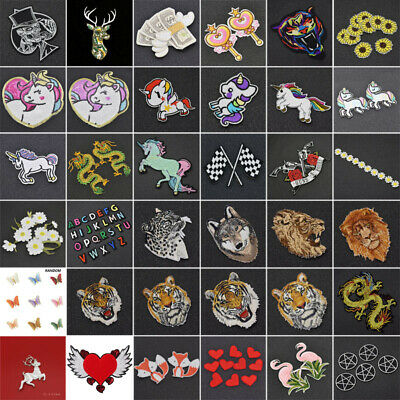 Sew Iron On Patch Embroidery Patches Applique Stickers Fabric Badge Bag Craft