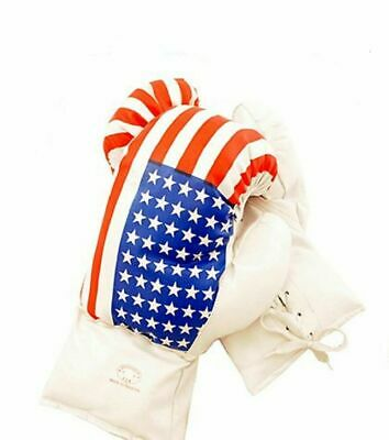 Kids 10 Oz USA Faux Leather Boxing Gloves SPARRING YOUTH PRACTICE TRAINING MMA