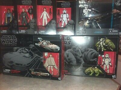 Star Wars The Black Series Set Lot Dewback Speeder Bike Biker Scout Stormtrooper
