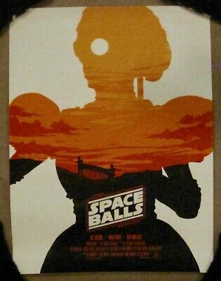 """Spaceballs"" Screen Print By Thomas Gano Olly Moss Star Wars Spoof Space Balls"