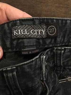 "Kill City Womens Low Rise Jeans Waist 27"",  Inseam 30 1/2"", Rise 7"" Stretch Nice"